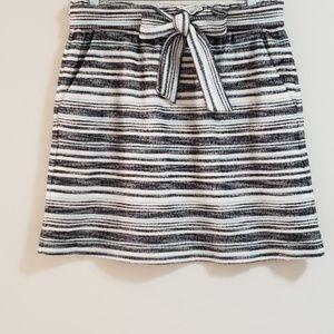 LOFT Skirt, Host Pick,Black/Ivory/SeaAqua, Sz M